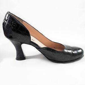 Anyi Lu SPICY Black Patent Leather Pumps